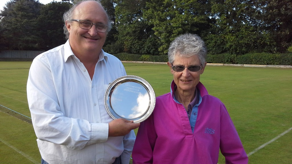 Peter Soothill receives the runners-up prize - the Millennium Plate